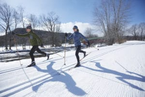 Skiers in Jackson NH