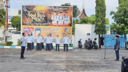 Apel Pasca Libur Idul Fitri 1442 H, Ini Pesan Dirut Perumda Air Minum Kota Padang