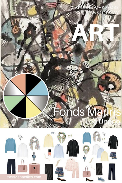 Fonds Marins by Lee Ungno - Inspiring a Start with Art Tote Bag Travel Wardrobe