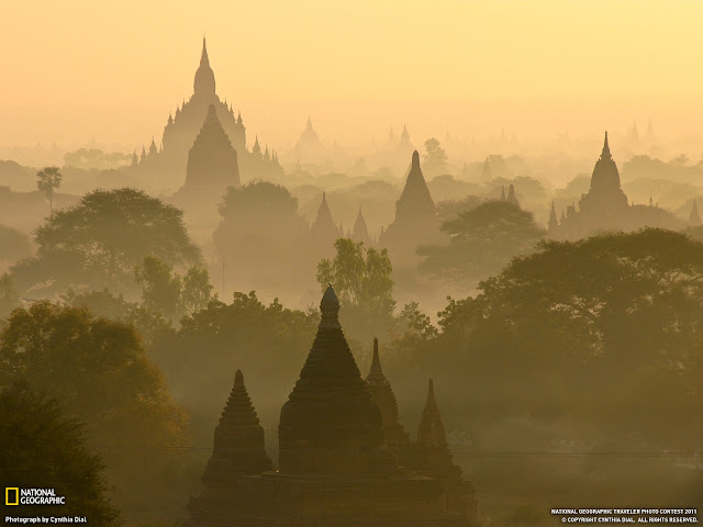 foto keindahan bagan, myanmar