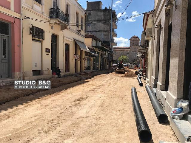 Αποχετευτικά έργα στο Εμπορικό Κέντρο του Άργους (βίντεο)