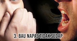 Bau Napas Tidak Sedap merupakan salah satu tanda tubuh banyak racun