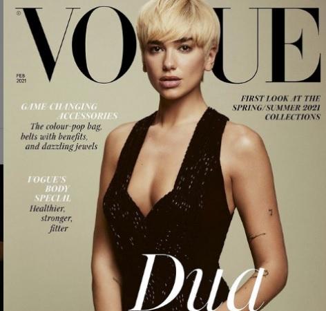 """Dua Lipa inizia il nuovo anno posando per la copertina di """"Vogue"""", stupisce per la sua acconciatura"""