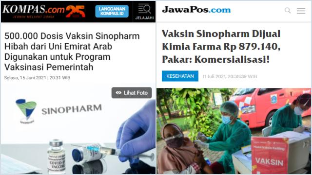 Nah! Sebagian Vaksin Covid yang Dijual Kimia Farma Diduga Hibah dari Arab