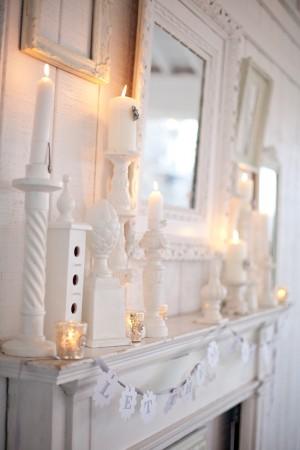 decoration mariage vintage cheminee