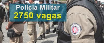 Concurso Polícia Militar Bahia (PMBA): 2.750 Vagas