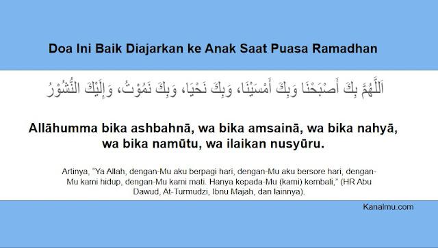 Doa Ini Baik Diajarkan ke Anak Saat Puasa Ramadhan