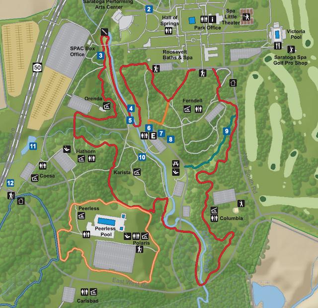 Saratoga Spa State Park Hiking Trails Map