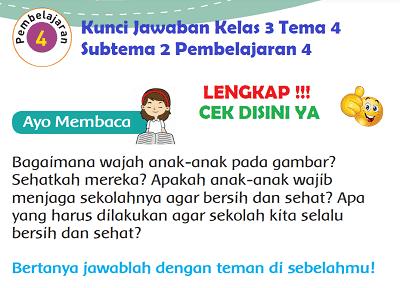 Kunci Jawaban Kelas 3 Tema 4 Subtema 2 Pembelajaran 4 www.simplenews.me