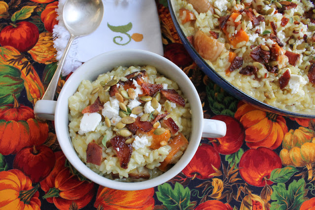 Food Lust People Love: Any risotto is a bowl of comfort food, but this roasted butternut bacon feta risotto takes a simple rice dish up several notches. You can stir the bacon through the dish or simply use it as a generous topping.