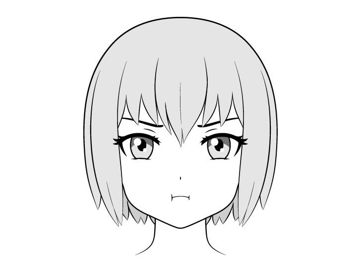 Gambar wajah cemberut anime