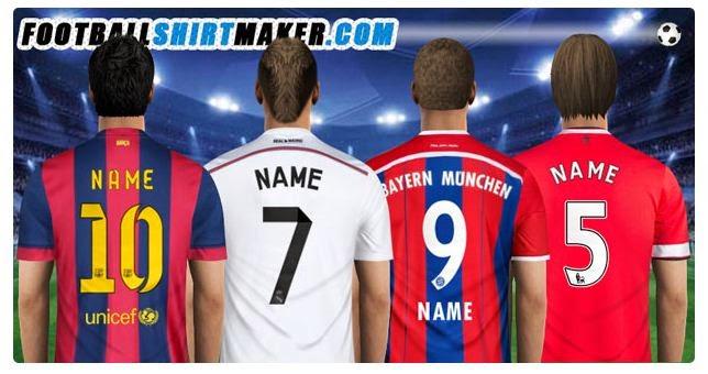 اكتب اسمك على قميص فريقك المفضل