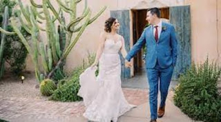 Joel With Lona On Their Wedding Day
