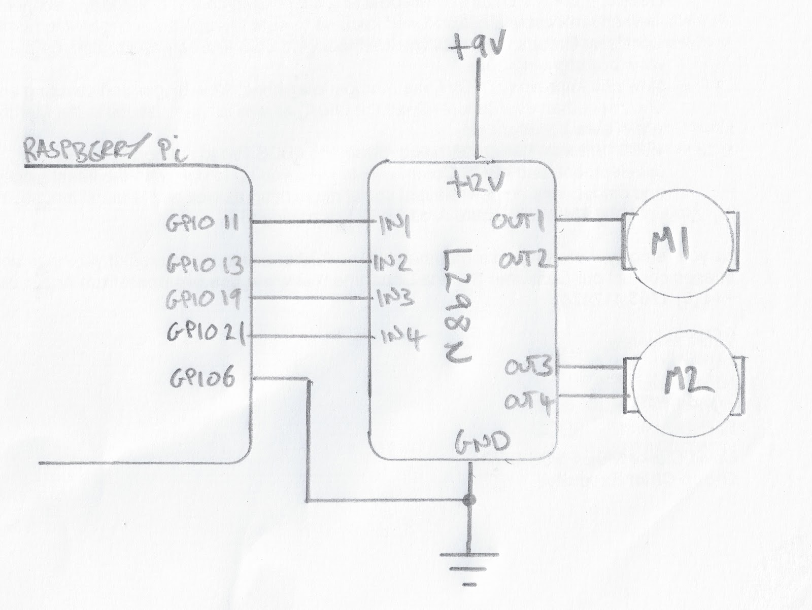 Raspberry Pi Mit L298n Double H Bridge Johannes Petz L298 Circuit Diagram Er Hat In Dieser