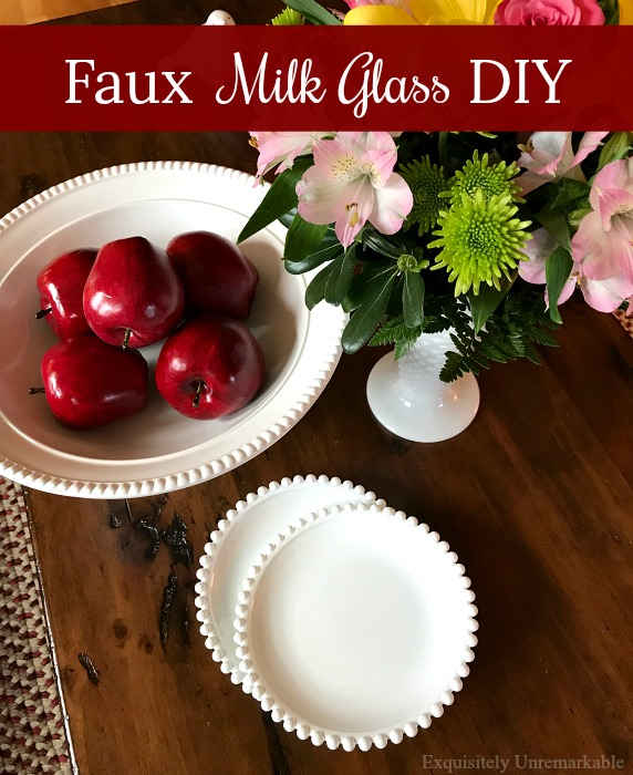 Faux Milk Glass DIY