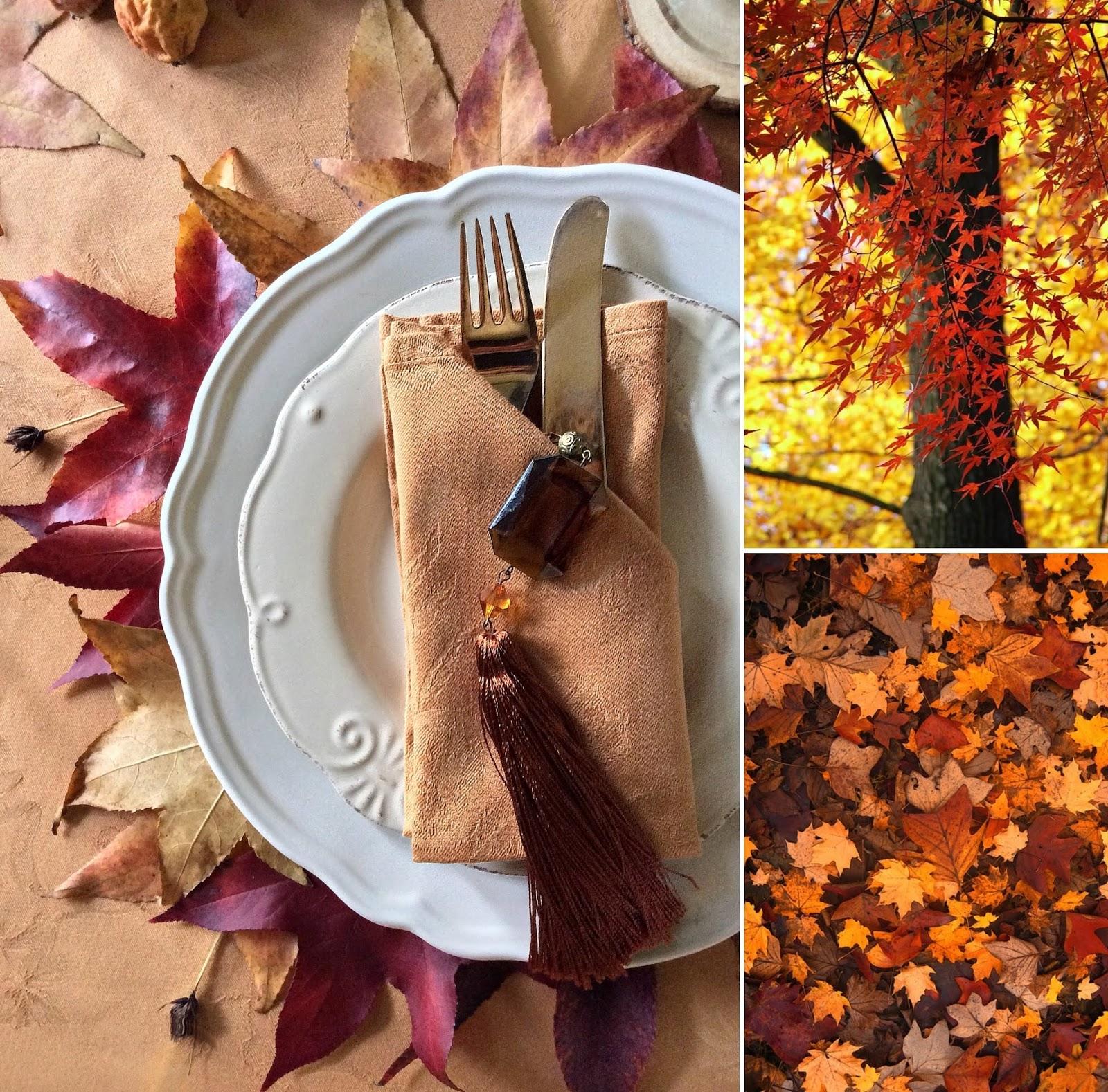 tavola con le foglie