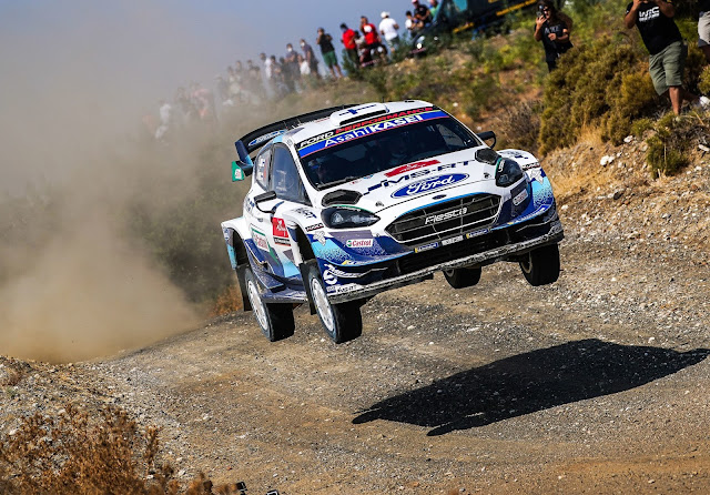 Ford Fiesta WRC on rally sardinia 2020