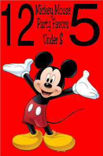 Take the work out of your Disney Mickey Mouse party and help the small businesses of Etsy with these fun Mickey Mouse party favors all under $5.00!