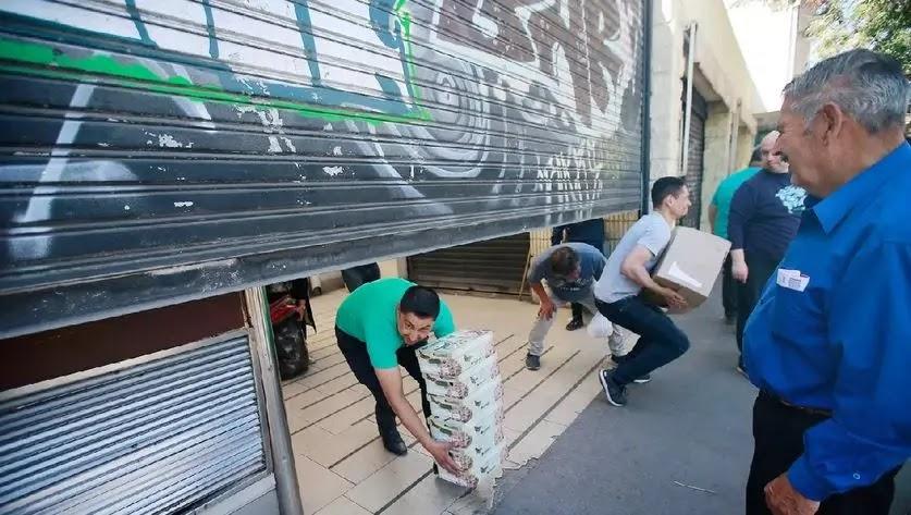 Locatarios se llevaron toda la mercadería para evitar nuevos saqueos en Maipú