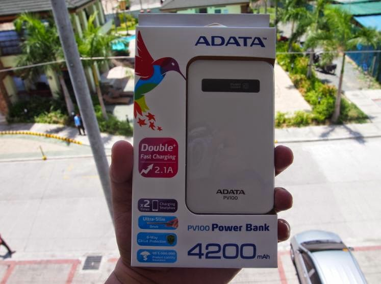 ADATA PV100 4200mAh Power Bank Review: Power On The Go Box Front