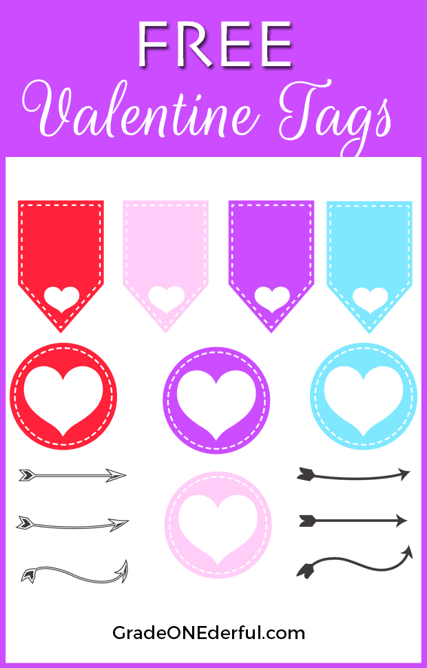 Free Valentine Clipart Tags by Grade ONEderful