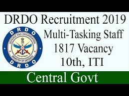 Defence Research & Development Organisation DRDO Multi Tasking Staff Recruitment 2019 to Hire 1817 Vacancies Apply Online @www.drdo.gov.in /2019/12/drdo-multi-tasking-staff-mts-recruitment-vacancies-apply-online-drdo.gov.in.html