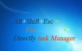 Computer Shortcut Keys for Task Manager