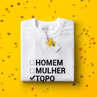 Camisetas para carnaval - Bissexual 50/50 TOPO