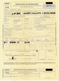 formulario 2135 sunat
