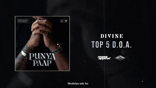DIVINE  - Top 5 D.O.A Song Lyrics | GullyGang | Mass Appeal India| New Song 2020 Lyrics Planet
