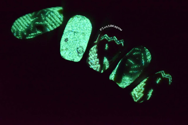 Espionage Cosmetics Blast from the Past nail wraps 80s 90s retro glow in the dark nails