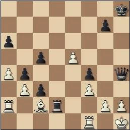 Partida de ajedrez Tan vs. Simón en 1965, posición después de 35...c3