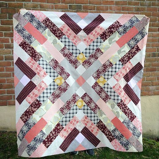 Diabolical Jane Quilt made by Quirky Granola Girl, The Tutorial designed by Jessie Aller