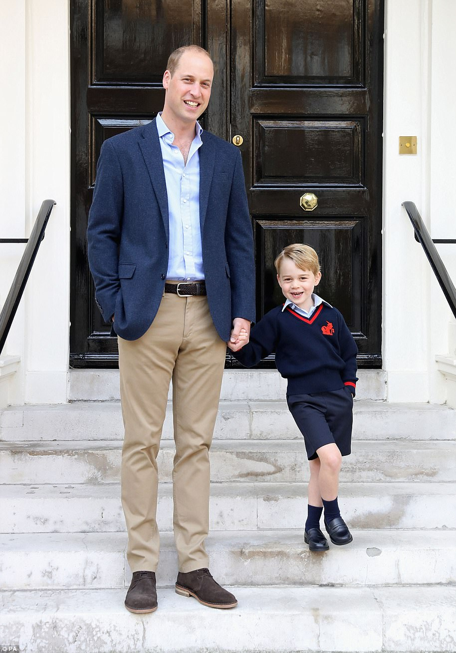 George Cambridge Starts First Day of School