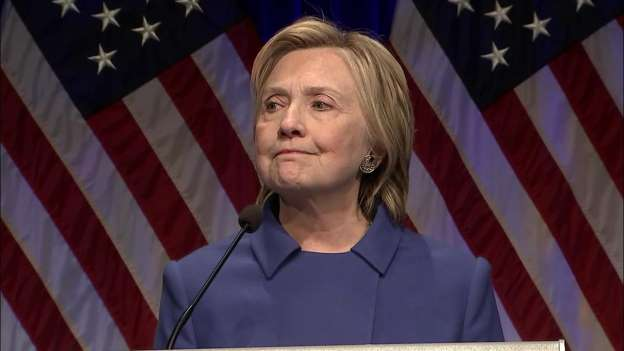 'Never Ever Give Up': Hillary Clinton Gives First Speech Since Election