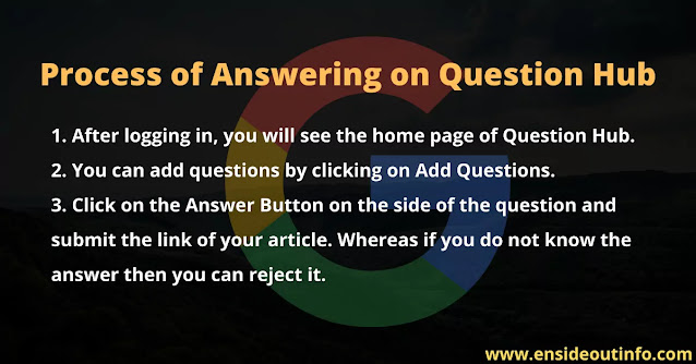 Process of Answering on Question Hub