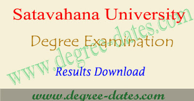 SU degree results 2018-2019 date - satavahana university ug result