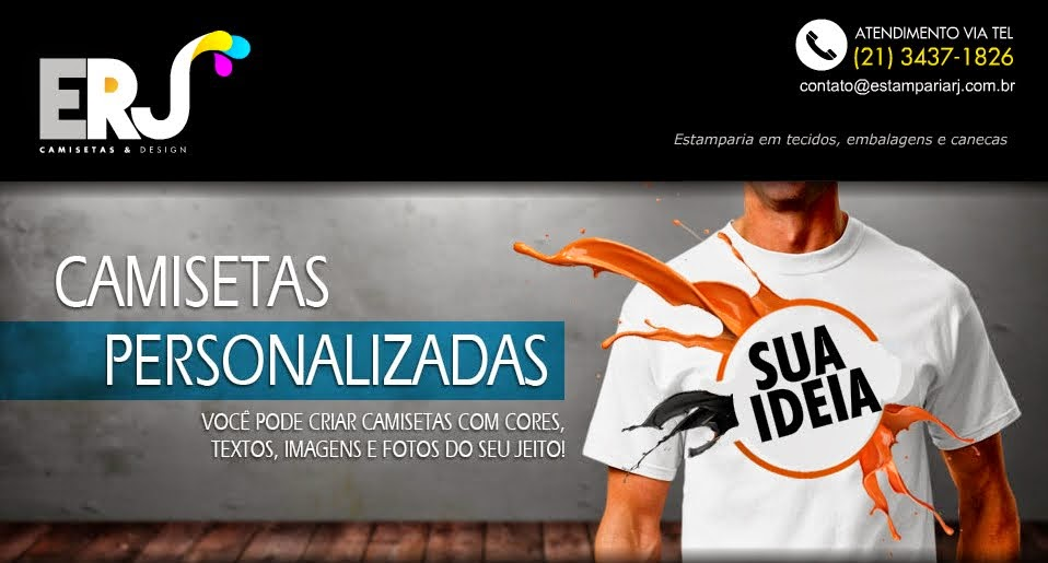 b13dc435dd Camisetas personalizadas Barra da Tijuca