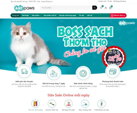 Template blogspot bán hàng tiếp thị liên kết Ant Paws