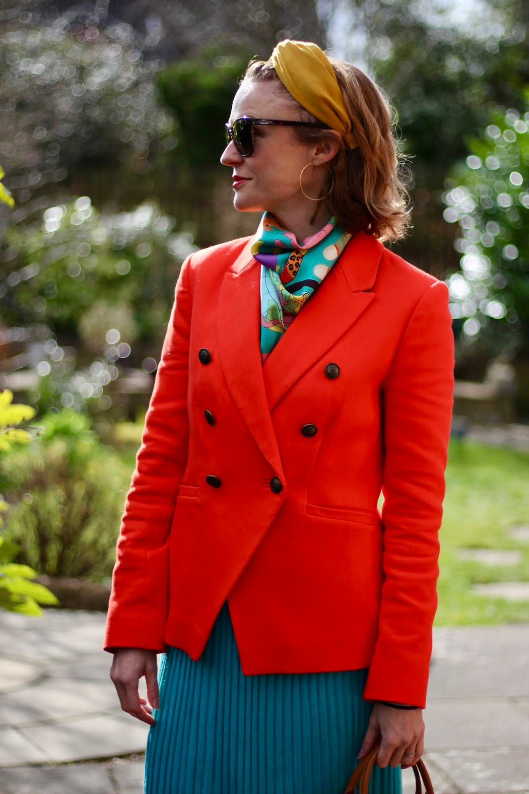 Orange and Turquoise Spring Outfit • Fake Fabulous