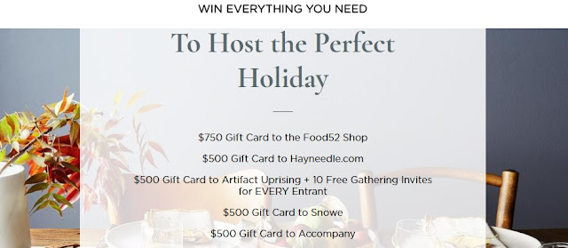 Host The Perfect Holiday Sweepstakes