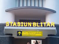 Stasiun Blitar, Stasiun Kampung Halaman