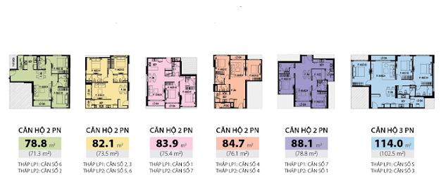 Diện tích căn hộ Lucky Palace quận 6 của NovaLand