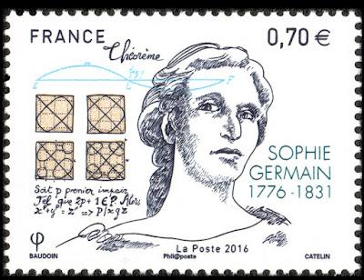 France 2016 - Birth of Sophie Germain, 1776-1831