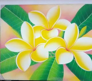 Sketsa Bunga Berwarna