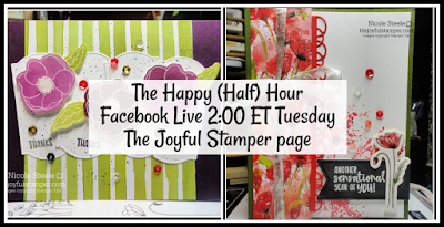 The Happy (Half) Hour Live show projects featuring ways to use Peaceful Poppies Elements Pack