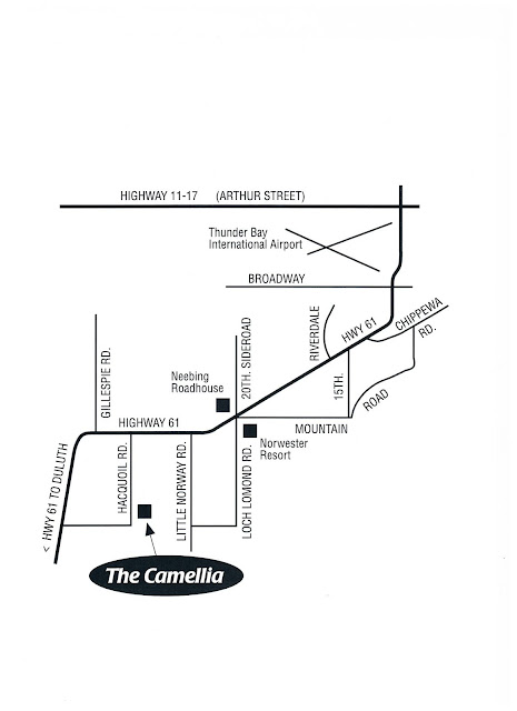 map to get to The Camellia Thunder Bay, On