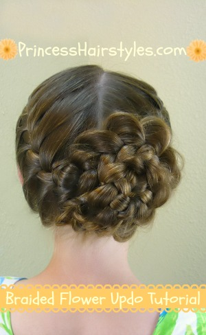 Braided Flower Updo, Easter Hairstyles - Hairstyles For ...