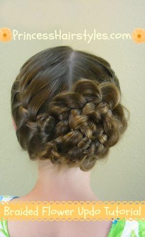 Superb Braided Flower Updo Easter Hairstyles Hairstyles For Girls Short Hairstyles Gunalazisus