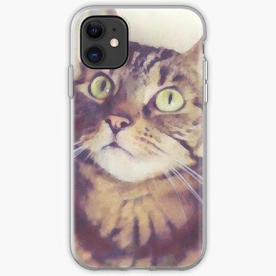 cat art iPhone case